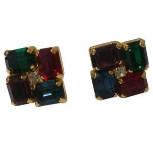 🇨🇦 Vintage earrings with rhinestones